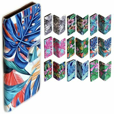 AU14.98 • Buy For Samsung Galaxy Series Tropical Leaf Pattern Wallet Mobile Phone Case Cover 1