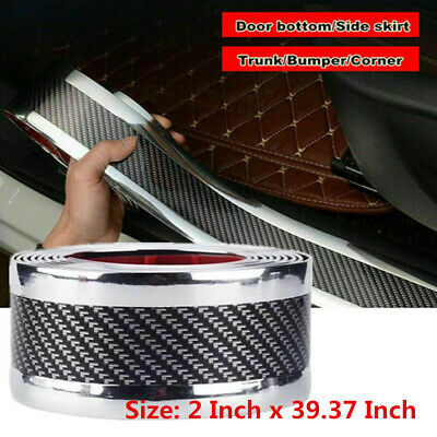 $16.73 • Buy Parts Accessories Car Door Sill Scuff Welcome Pedal Protect Carbon Fiber Sticker
