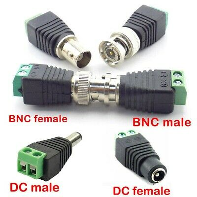 $ CDN5.34 • Buy 5/10X BNC DC Connector Male Female Adapter For Camera CCTV TV Video Balun Cable