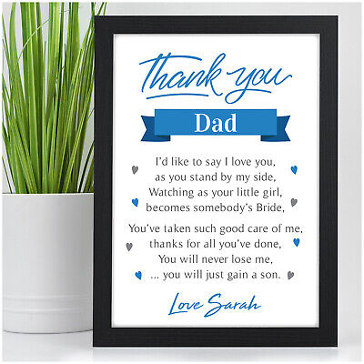 £4.95 • Buy PERSONALISED Father Of The Bride Gifts Wedding Thank You Gifts For Dad Daddy