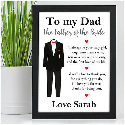 Father Of The Bride Gifts PERSONALISED Thank You Gifts For Father Of The Bride • 4.95£