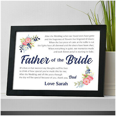 £5.95 • Buy PERSONALISED Father Of The Bride Gifts - Wedding Gifts For Father Of The Bride