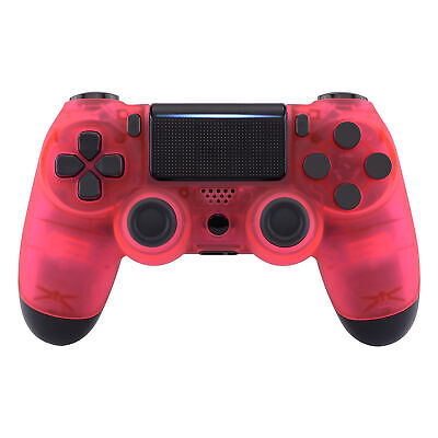 AU22.71 • Buy Foggy Clear Pink Faceplate Front Housing Shell For PS4 Slim Pro Game Controller