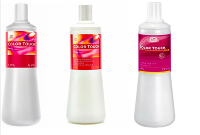 Wella Colour Touch Developers / Peroxide 1000ml 1.9%, 4%, 4%-Plus (1L) FREE P&P • 10.39£