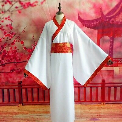 Men's Chinese Ancient Hanfu Asian Traditional Clothing Dress Robe Gown Tang YM0 • 18.04£