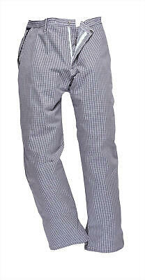 Faithful Small Check Chef Trousers  – Blue Or Black Check Colours – XS To 2XL • 6.99£