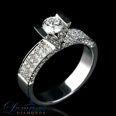 $ CDN1521.19 • Buy F SI Ladies Diamond Ring 2 Carat Round Cut Solitaire Size 4 5 6 7 8