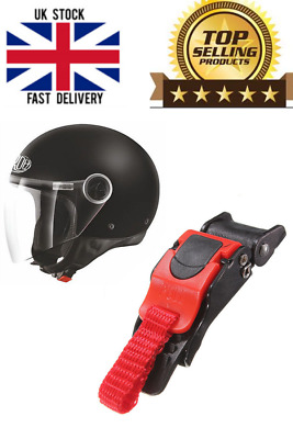 £4.50 • Buy Sawtooth Plastic Motorcycle Helmet Speed Clip Chin Strap Quick Release Red/Black