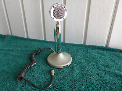 vintage astatic d-104 chrome desktop microphone with t-ug8 stand • 80 00$