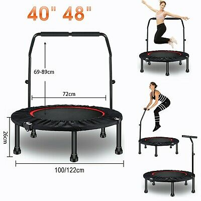 £49.99 • Buy 40  48  Mini Round Trampoline Aerobic Exercise Bungee Rebounder Jumper Foldable