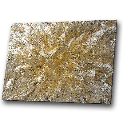 £19.99 • Buy Gold White Brown Marble Abstract Canvas Wall Art Cool Picture Prints