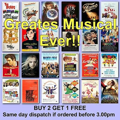 £6.57 • Buy Movie Poster Musical Theatre Poster Musicals Posters Film Musical Posters Film