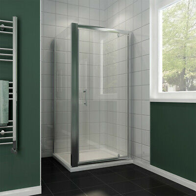 Pivot Shower Door Enclosure And Tray Side Panel Walk In Cubicle Glass Screen • 152.99£