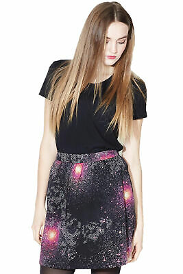 £27 • Buy Sugarhill Boutique Galaxy Skirt 8-16 Black & Pink Stars & Planets Flared