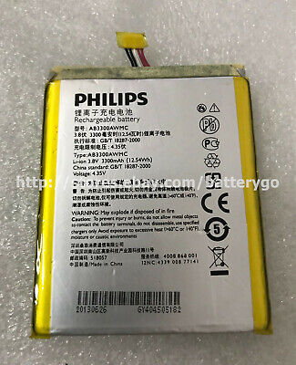 $19.91 • Buy New Original 3300mAh 12.54Wh 3.8V Battery AB3300AWMC For Philips Xenium W8510
