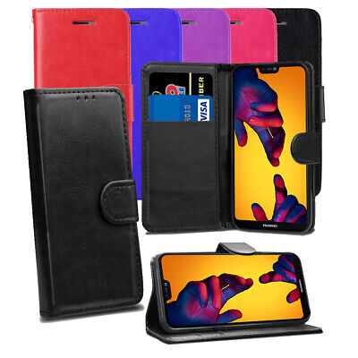 Leather Flip Case Cover For Huawei Mate 20 P8 Lite Y7 Y6 Honor 8A 9 P Smart 2019 • 2.99£