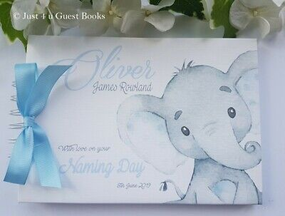 £13.99 • Buy Personalised Elephant  Christening/ Naming/ Baby Shower Guest Book/album