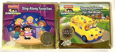 $ CDN18.25 • Buy Lot Of 2 Fisher Price Little People Gold Edition Sealed CD's Kid's Songs