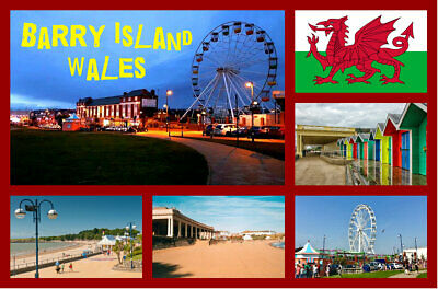 £2.15 • Buy Barry Island, Wales - Souvenir Novelty Fridge Magnet - Sights / Flags / Gifts