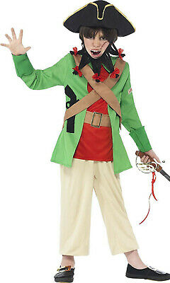 Smiffys Horrible Histories Blackbeard Children's Pirates Fancy Dress Age 7-9yrs • 7.99£