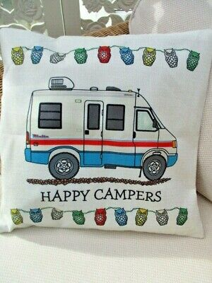 Camper Van Motor Home Cushion Cover New   2 Colours • 6.99£