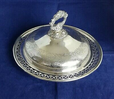£14.99 • Buy Beautiful Vintage Silver Plated Dish With Lid