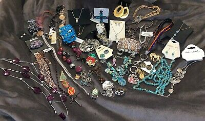 $ CDN196.87 • Buy Mixed Lot Of Vintage & New Costume Jewelry Necklaces Earrings Bracelets Rings