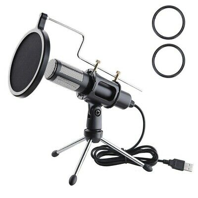 AU36.99 • Buy Professional Condenser Microphone USB Plug Play Home Podcast Recording MIC