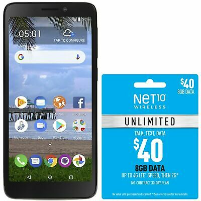 $39.99 • Buy Net10 TCL LX 4G LTE Prepaid Cell Phone With $40 Airtime Plan Included