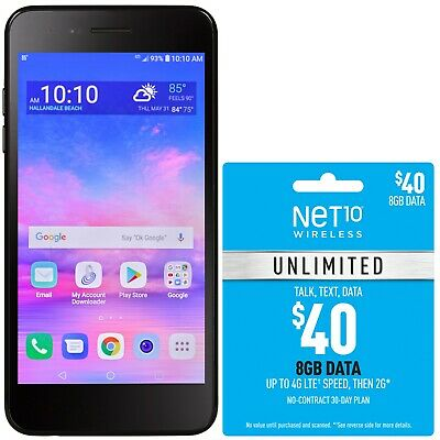 $39.99 • Buy Net10 LG Rebel 4 4G LTE Prepaid Cell Phone With $40 Airtime Plan Included