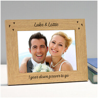 Personalised 1st 5th 10th Wedding Anniversary Photo Frame Gifts For Couples Him • 10.95£