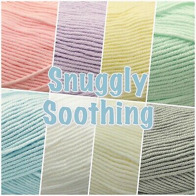 Sirdar Snuggly SOOTHING Soft Baby Double Knit Knitting Wool Yarn 100g Ball  • 3.05£