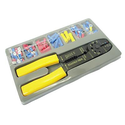 Crimper Pliers Crimping Tool Set Cable Wire Electrical Terminal 101pc Cutter 8  • 5.89£