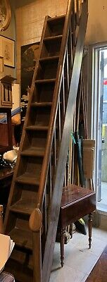 $382.50 • Buy Rare Antique Gothic English Carved Wood Library Steps 119""