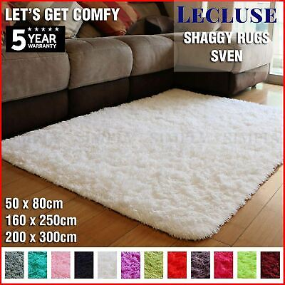 AU49.90 • Buy Lecluse Rugs Shaggy Floor Carpets Extra Large Lounge Couch Non Slip Anti Area