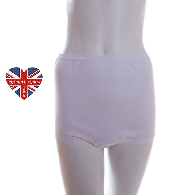 £10.99 • Buy Ladies Built In Washable Pad Incontinence Briefs, Pants, Knickers, Made In Uk