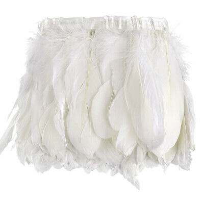 £10.60 • Buy White Goose Feather Fringe 2m Craft/Sewing/Costume/Millinery Trimming Fringe