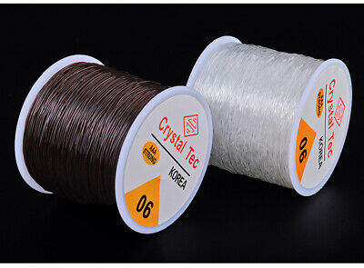 $ CDN3.14 • Buy 0.6/0.8/1mm Stretch Elastic Transparent Line Cords Beading Rope String Jewelry