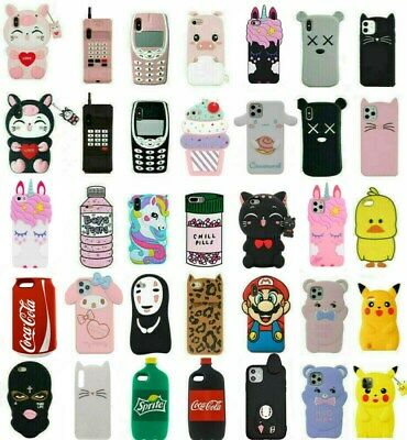 AU4.49 • Buy Case Cover For IPhone 5S 6 7 8 Plus XR XS MAX Cute 3D Cartoon Silicone Kids Skin