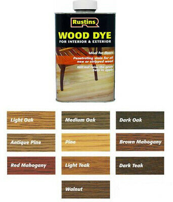 £8.98 • Buy Rustins Wood Dye Quick Drying, Non-Fading And Non-Bleeding All Colours & Sizes