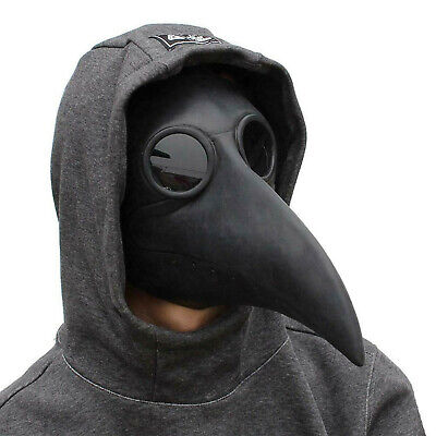 Halloween Costume Props Plague Doctor Bird Mask Long Nose Beak Cosplay Steampunk • 9.99£