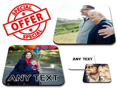 Personalised Photo Coaster Printed Mug Mats Custom Any Image Any Text Picture  • 3.99£