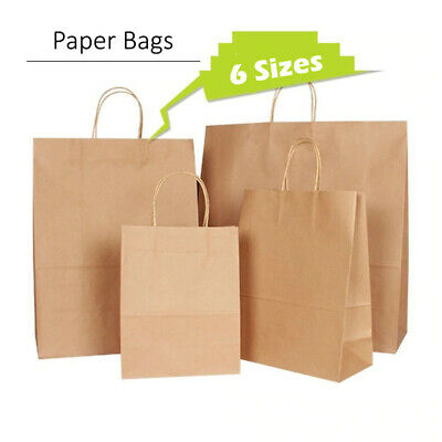Quality Carrier Brown Kraft Paper Gift, Fashion Bags Strong Twisted Handle Cheap • 10.99£