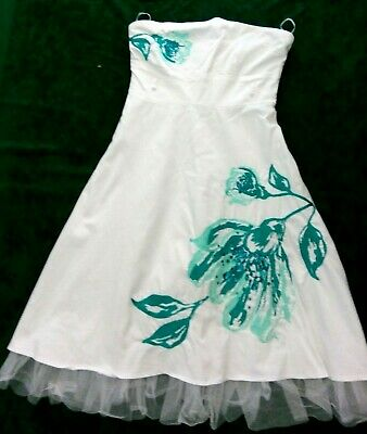 £16.99 • Buy  Beautiful Ladies/Teenagers Evening/Prom Dress. White And Turquoise.Size 10. Bay