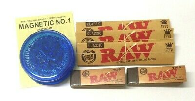 £4.55 • Buy MAGNETIC CRUSHER Leaf  With RAW KING SIZE CLASSIC SLIM PAPERS And ROACHES