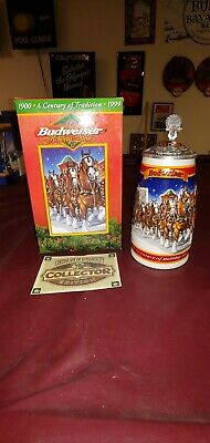 $ CDN55.65 • Buy 1999 Budweiser  A Century Of Tradition  Holiday Stein Lidded CS389SE Signature