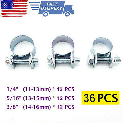$9.99 • Buy 30 Pcs 1/4  5/16  3/8  Fuel Injection Gas Line Hose Clamps Clip Pipe Clamp US