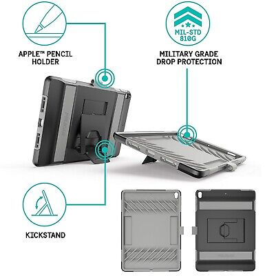 AU135 • Buy Pelican Voyager IPad Pro 10.5  Military Heavy Duty Style Case Stand Black/Grey