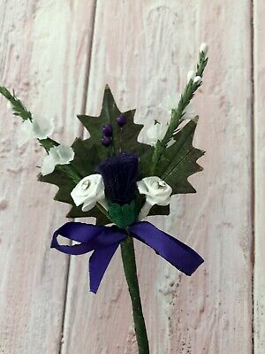 £1.75 • Buy Scottish Traditional Artificial Thistle Flower Buttonhole Wedding Decoration