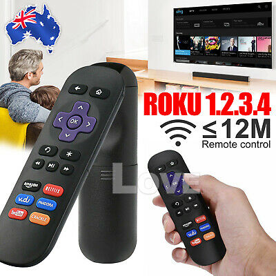AU8.95 • Buy Replacement Infrared IR TV Remote Control For Roku- 1 2 3 4 Media Player